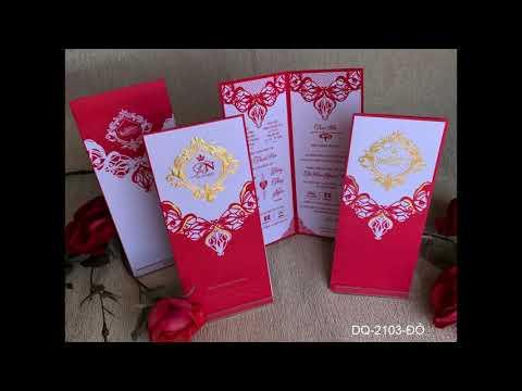 Mẫu thiệp cưới mới giá rẻ - 2.000 -  3 000 đồng