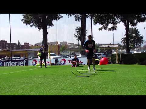 Moisés Muñoz  y Hugo González preparandose para América vs Cruz Azul