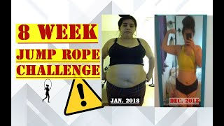 8 week JUMP ROPE Challenge |Weight Loss TRANSFORMATION