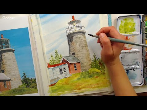 LIVE! Lighthouse in Watercolor (Monhegan Island Series)