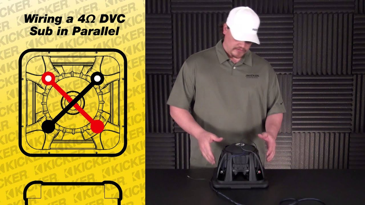 Subwoofer Wiring: One 4 ohm Dual Voice Coil Sub in Parallel - YouTube