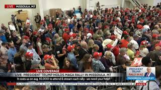 HUGE Crowd at President Trump Rally in Missoula, MT 10-18-18