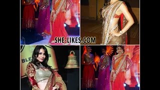 look sexy like malaika arora in designer saree