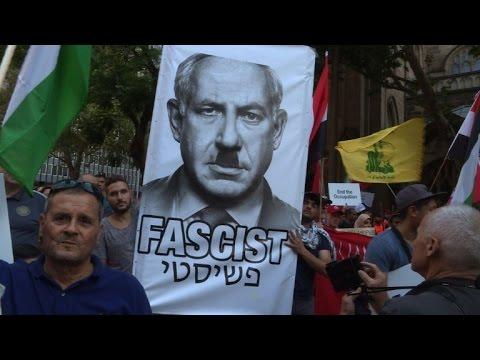 Hundreds protest Netanyahu in Australia