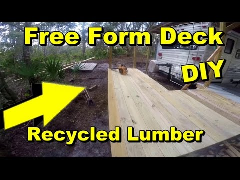 Free Form Deck, Recycled Lumber, DIY less than $80.00