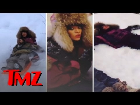 Rihanna Vacations In Aspen