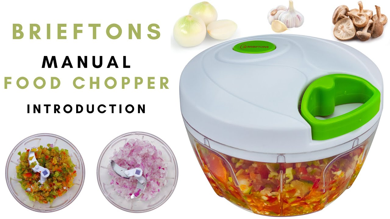 Brieftons Food Chopper: Manual Vegetable Chopper Introduction   YouTube