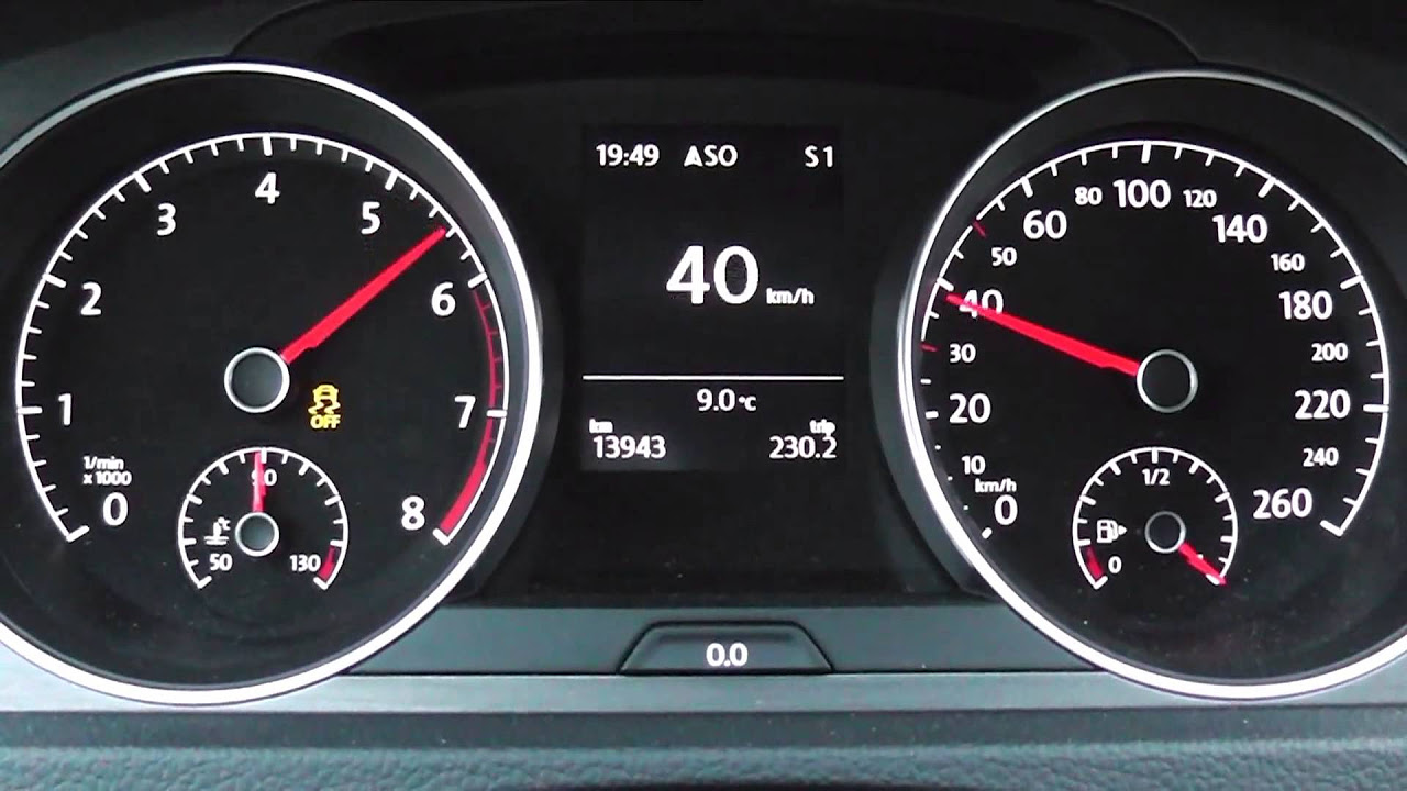 2013 Volkswagen Golf VII 1.4 TSI 122 HP 0-100 km/h & 0-100 mph Acceleration