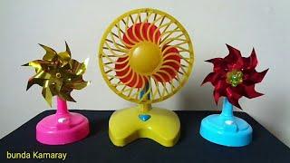 Fan toy yellow Vs mini fan plastic propeller
