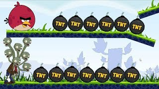 Angry Birds Fry Zombie - RED THROW ALL TNT TO BURN ZOMBIES!