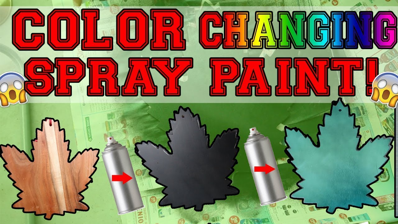 testing out color changing spray paint chameleon spray paint youtube. Black Bedroom Furniture Sets. Home Design Ideas