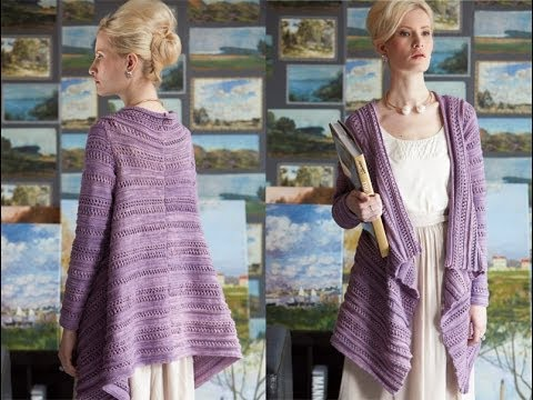 Knitting Pattern For Waterfall Jacket : #5 Waterfall Cardigan, Vogue Knitting Early Fall 2014 - YouTube