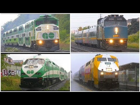 4K | GO TRAIN & VIA RAIL Ontario Canada