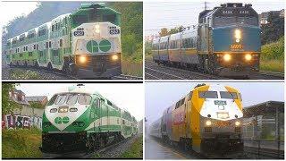 4K | GO TRAIN & VIA RAIL Ontario Canada