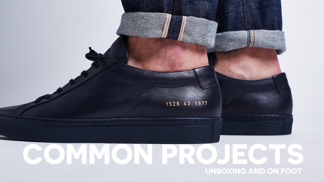 Men s Common Projects Achilles Low Sneaker Unboxing and On Foot ... e8d573b8e
