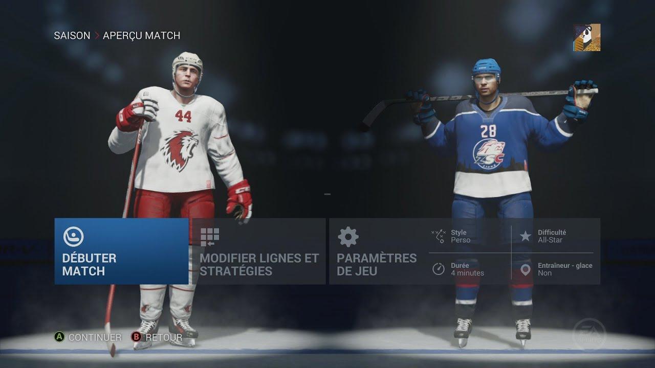NHL 16 - ZSC Lions vs Lausanne HC - #1 Swiss National ...