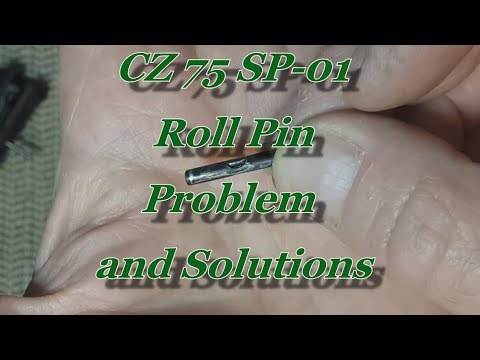 CZ 75 SP-01 Firing Pin's Roll Pin Problem, and Solution