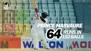 Prince Masvaure's 64 Run Against Bangladesh | Day 1 | Only Test | Zimbabwe tour of Bangladesh 2020