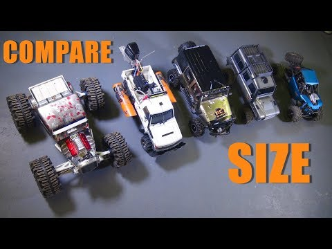 RC ADVENTURES - 15 Size Comparisons - 1/8th Scale Cragsman Jeep JK From Traction Hobby