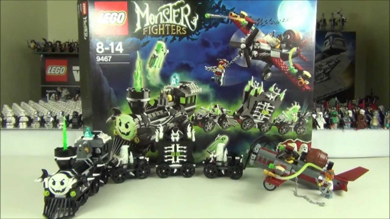 lego monster fighters set 9467 the ghost train review youtube - Lego Halloween Train