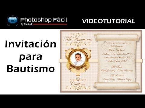 Invitación de Bautismo Photoshop by Yanko0