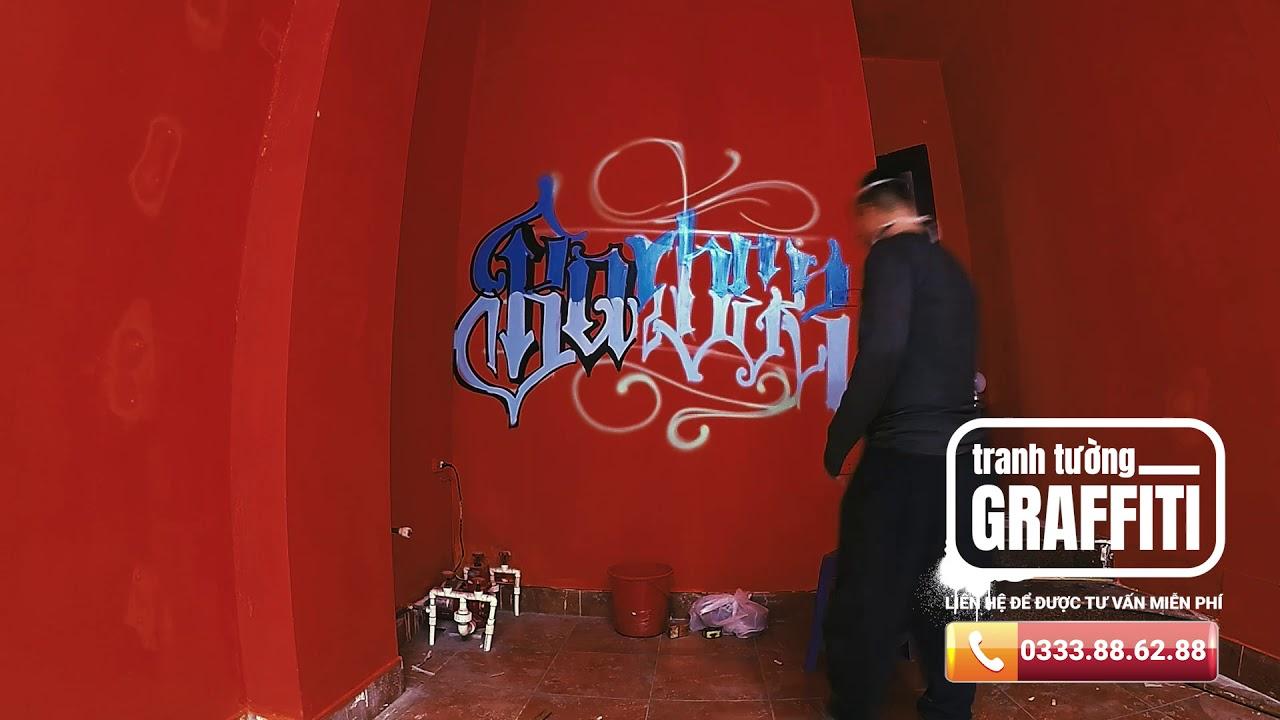 Mr.Right – Barbershop -Vẽ tranh tường Graffiti chuyên nghiệp tại Hà Nội – Lh: ngay 0333.88.62.88