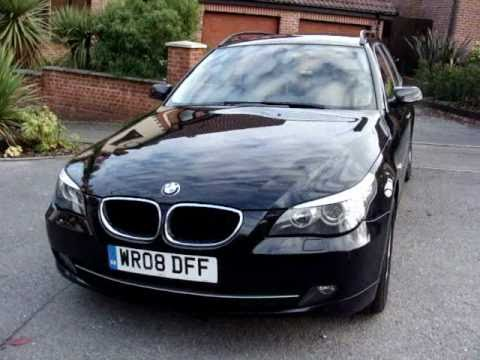 bmw 520d se touring auto 177bhp 2008 youtube. Black Bedroom Furniture Sets. Home Design Ideas