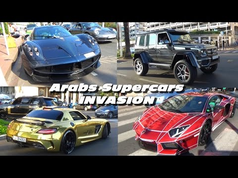 Arabs Supercars Invasion in Cannes (Pagani / Lamborghini / Ferrari & co)