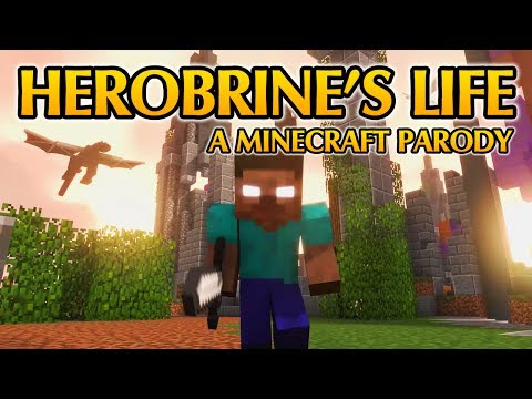 Herobrine's Life - Minecraft Parody of Something Just Like This Coldplay (Lyrics)