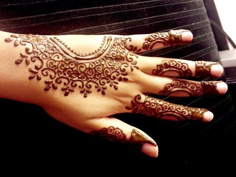 Arabic Henna Design - Simple Easy Mehendi Tutorial