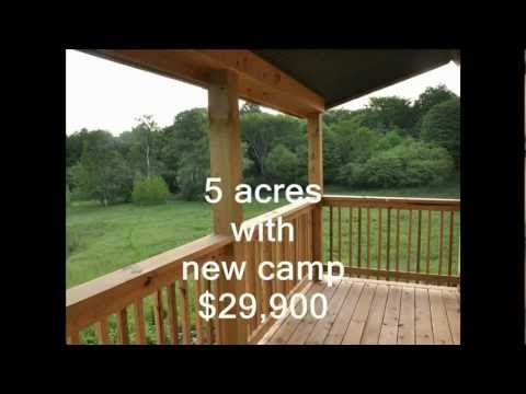 New York Camps and Land for sale 5 acres NY camp $29,900