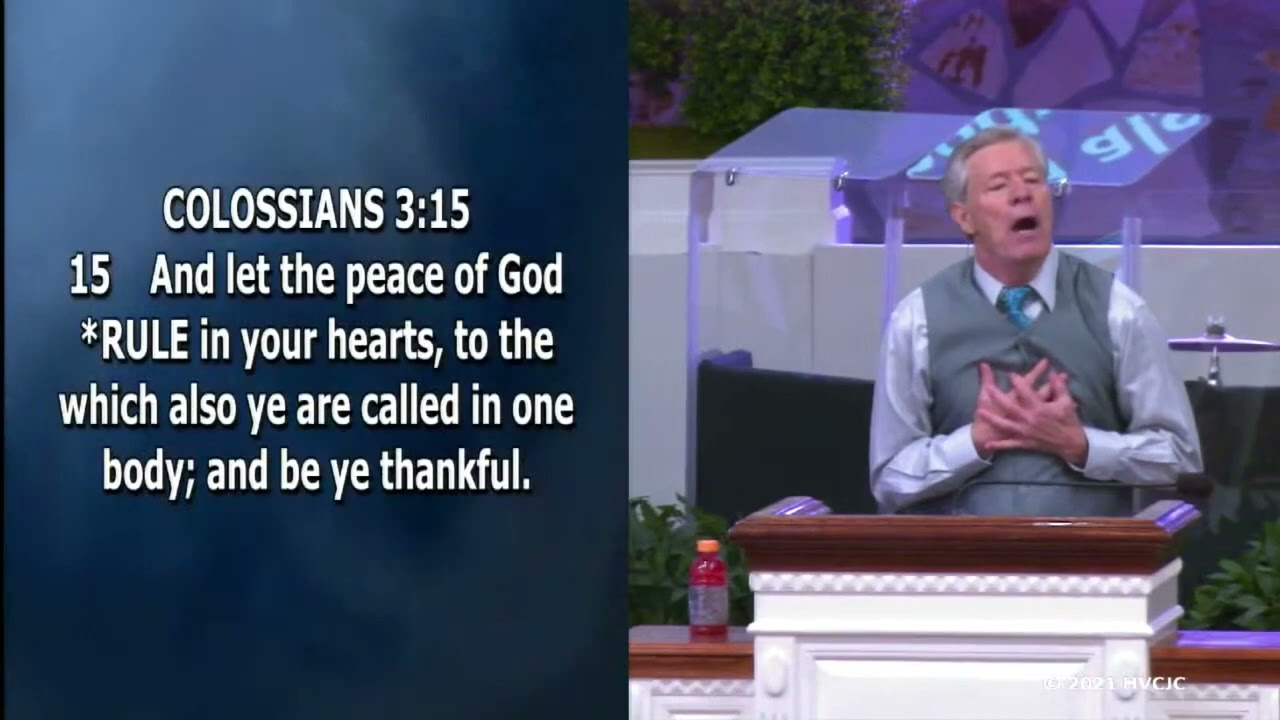 Download Let the peace of God rule in your hearts  - Bro. Donny Reagan, HVCJC