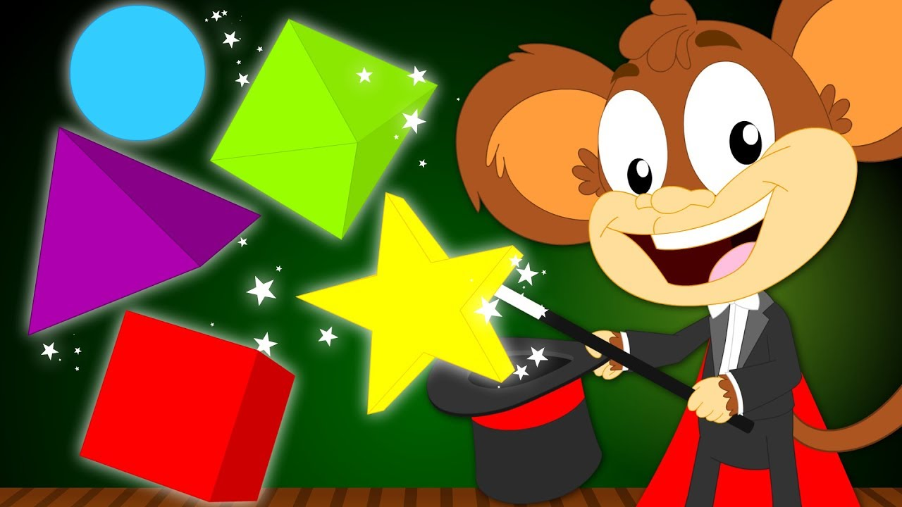 Learn Shapes | The Shapes Song | Learn Shapes With Monkeys | Songs ...