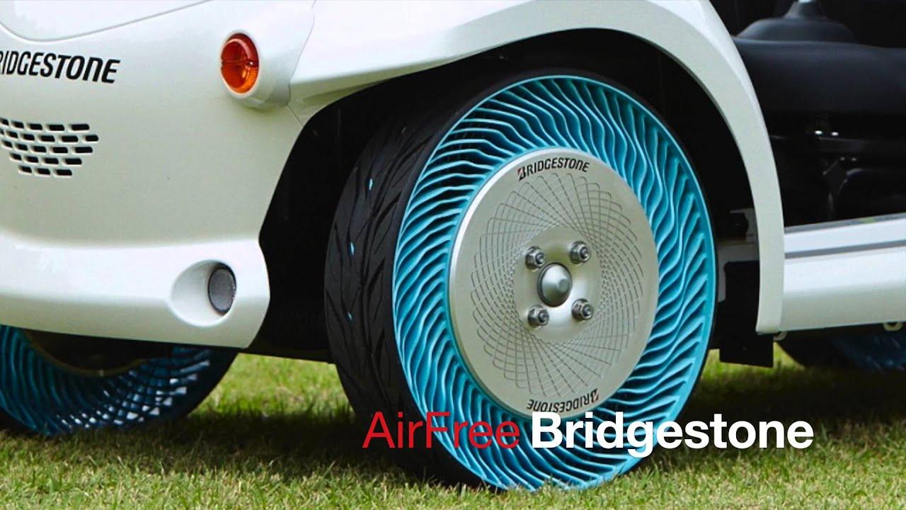 prototype de pneu sans air bridgestone air free roue youtube. Black Bedroom Furniture Sets. Home Design Ideas
