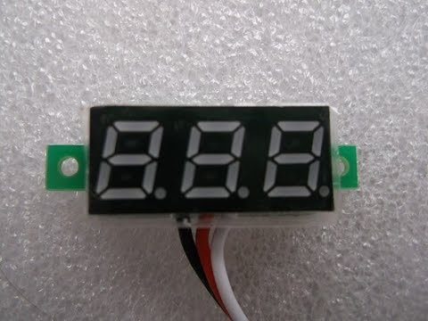 Digital VoltMeter LED 3 Digit Display - Connections and Testing