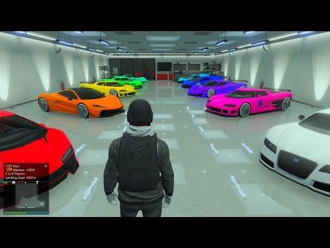 Gta 5 - INSANE Modded Color Garage Tour
