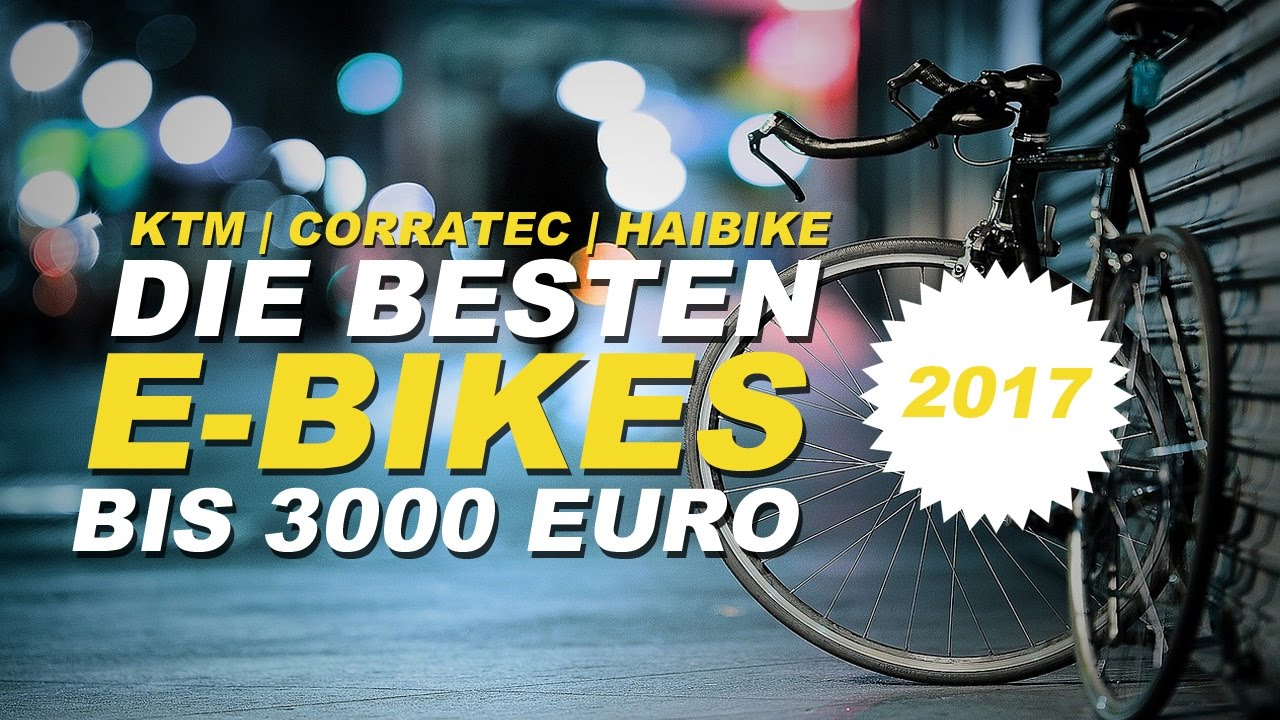bestes e bike 2017 top 3 die besten e bikes bis 3000 euro im kurz test youtube. Black Bedroom Furniture Sets. Home Design Ideas