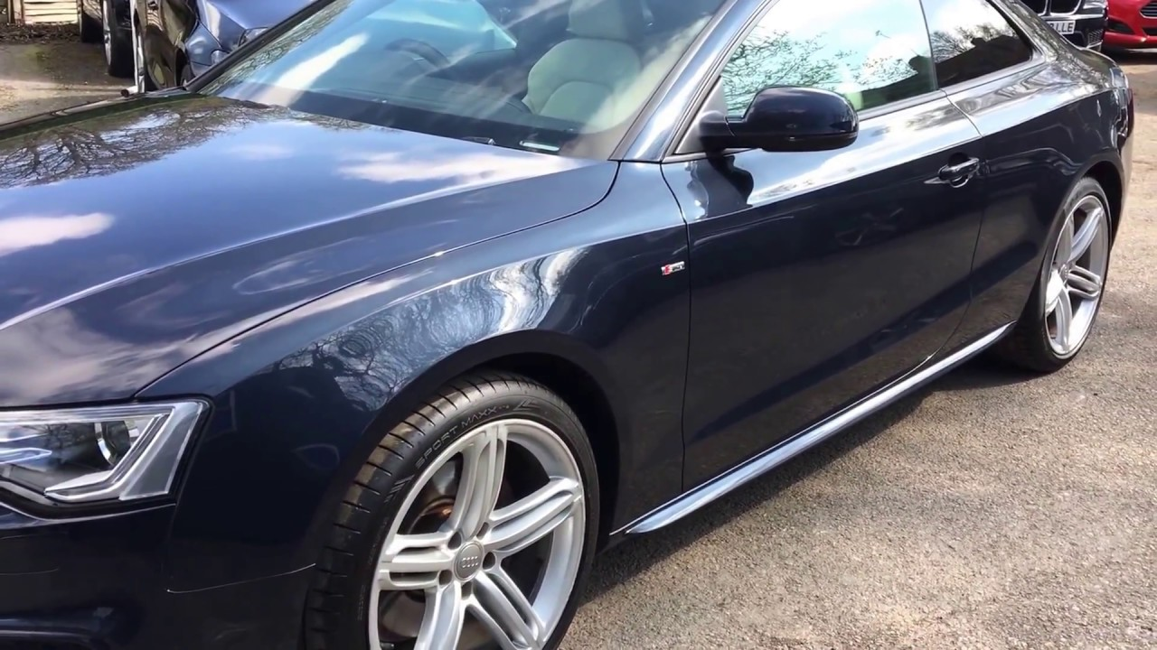 Audi A5 Coupe 3 0 Tdi S Line Black Edition Finished In Moonlight