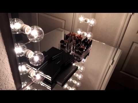 Custom Vanity mirror set up - YouTube