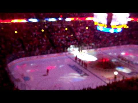 chicago blackhawks National Anthem at Game 1 round 1   LOUD.