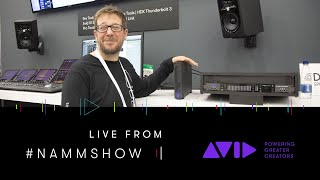 #AVID #NAMMSHOW LIVE ⏩ Power your desktop or rack with Pro Tools | HDX Thunderbolt 3 systems