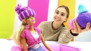 Зимняя шапка для Барби своими руками!
