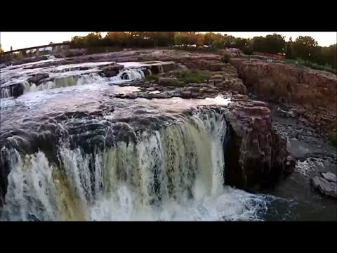 Falls Park, Sioux Falls, South Dakota - Drone Video