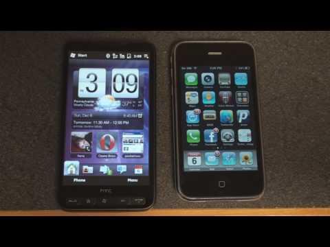 HTC HD2 vs. iPhone 3GS: Homescreen Utility