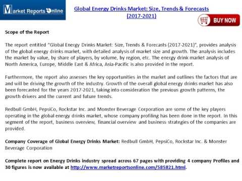 New Study on Global Energy Drinks Market 2017-2021
