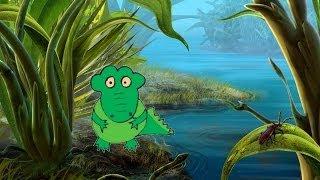 Как нарисовать Крокодила Давай нарисуем для детей 5-6 лет(КАК НАРИСОВАТЬ Крокодила. Уроки рисования для детей 5-6 лет. Давай нарисуем вместе. Рисовалки для малышей...., 2014-06-04T06:01:00.000Z)
