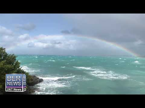 Rainbow & Windy Conditions On North Shore, January 17 2020