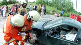 Désincarcération véhicule démonstration de fin d'année des cadets d'Enghien 12 05 2018