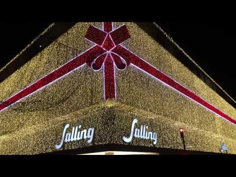 Sallings julebelysning tændes