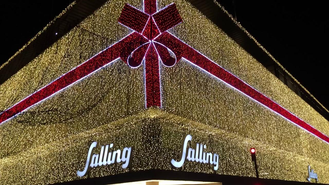 144fec77412 Sallings julebelysning tændes - YouTube